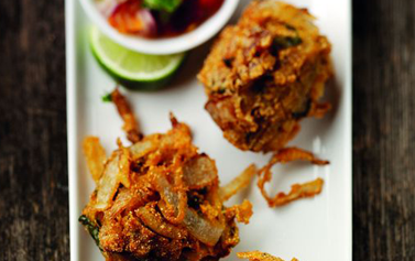 Takeaway Onion Bhaji Indian Ocean ME15