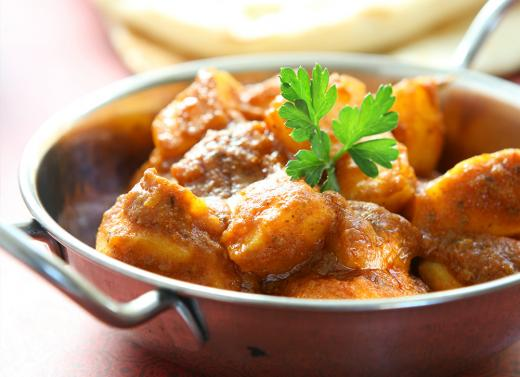 Takeaway aloo curry little india cm8