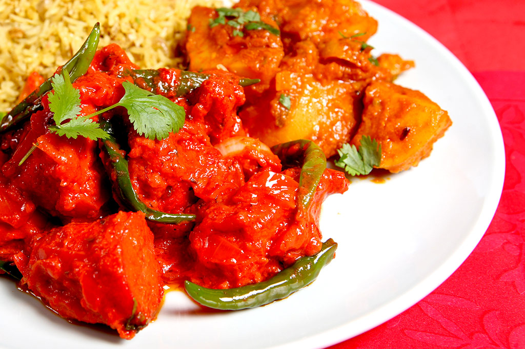 Chilli chicken at Raj Tandoori RH10