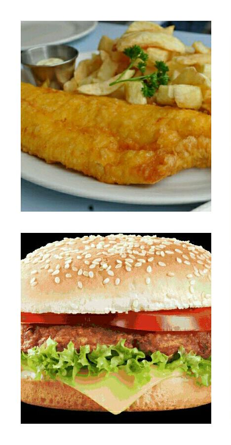 Takeaway burger Mr Fish And Chips LU3