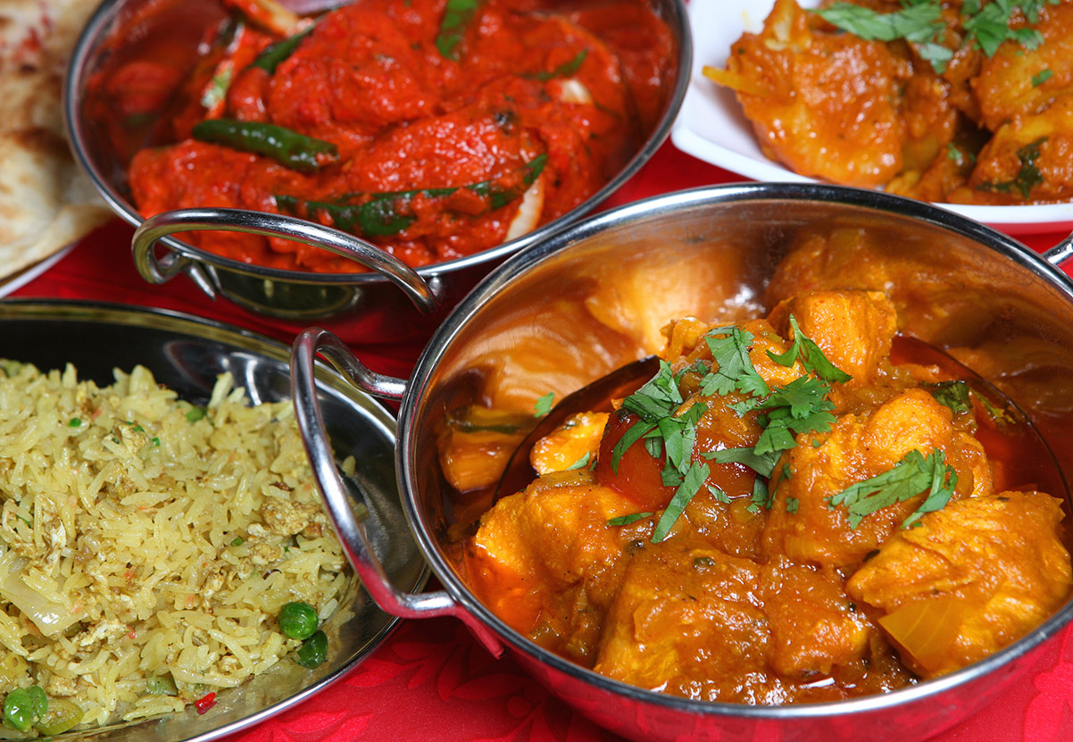 Takeaway Indian food at Real Spice ME12