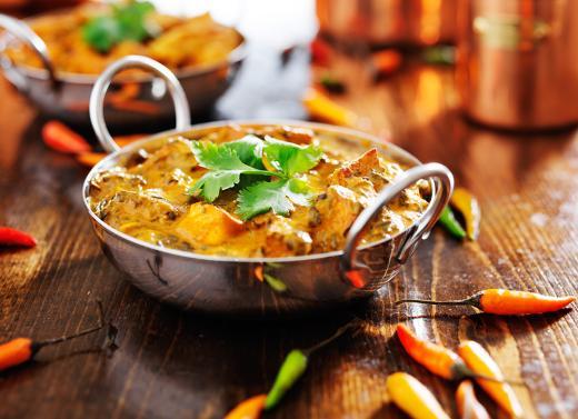 Takeaway curry dish taj mahal ss13