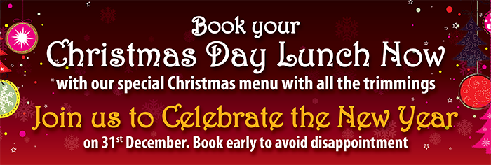 Book your christmas day lunch now