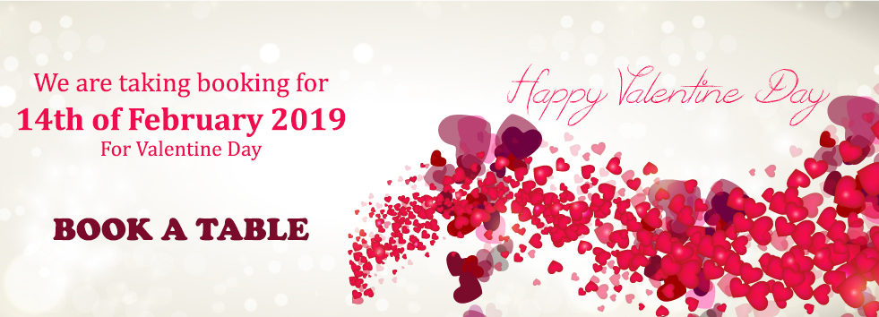 Book a table for valentine day