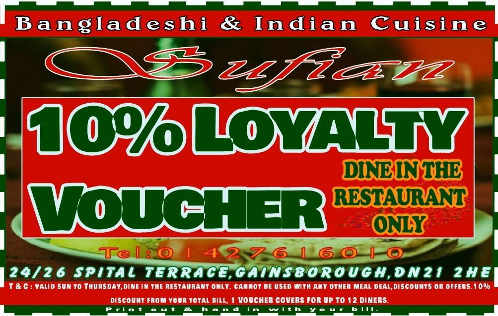 Loyalty Voucher at Sufian Cuisine
