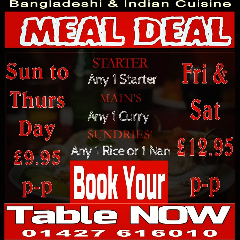 Offer of Takeaway Offer Sufian Indian and Bangladeshi Cuisine DN21