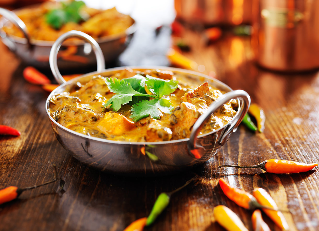 Restaurant and Takeaway Vegetable Curry Indian Kitchen E14