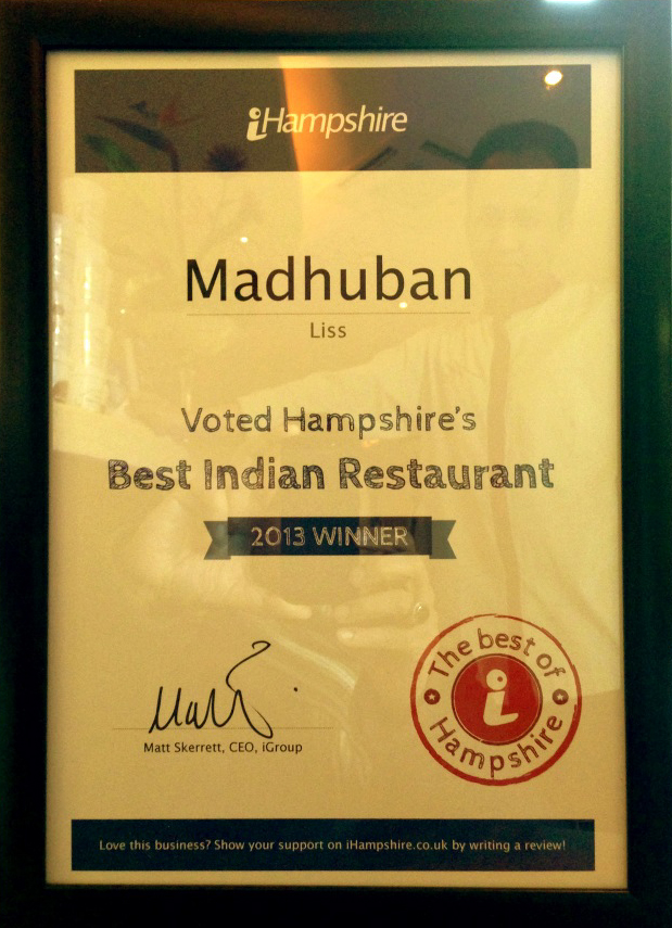 takeaway best of hampshire madhuban gu33