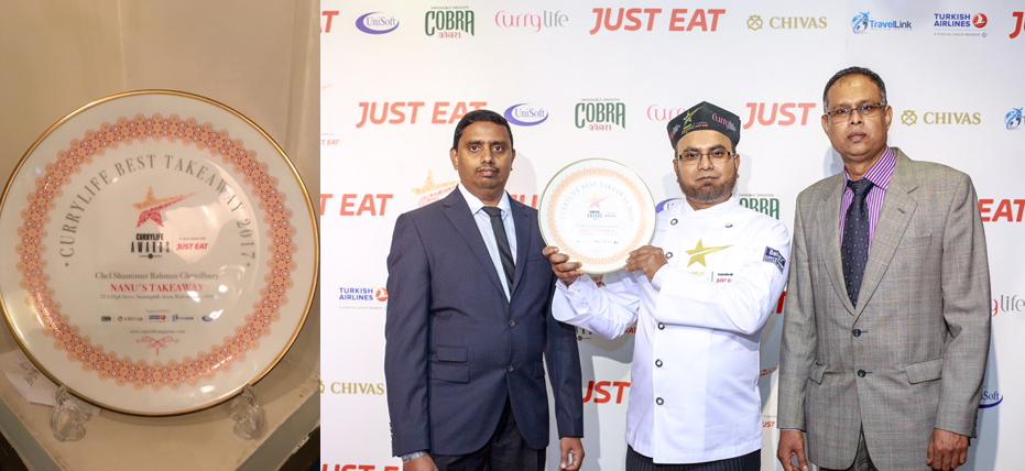 Currylife Best Takeaway awards at Nanus Takeaway SL5