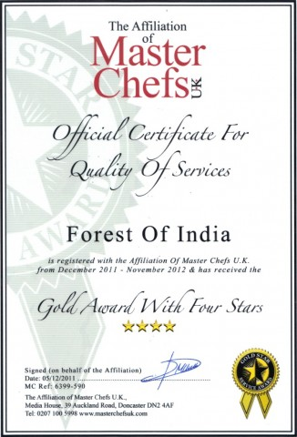 Awards Forest of India At WD5