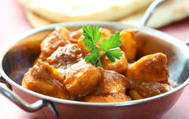 Free Bombay Aloo and Onion Bhaji Order Online Megna Indian Restaurant MK19