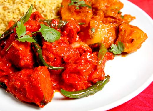 Takeaway chicken curry at curry den kt8