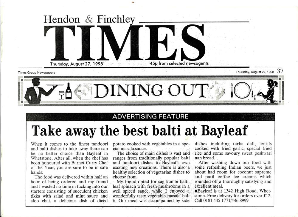Takeaway Press media Bayleaf N20