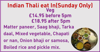 Sunday offer for veg