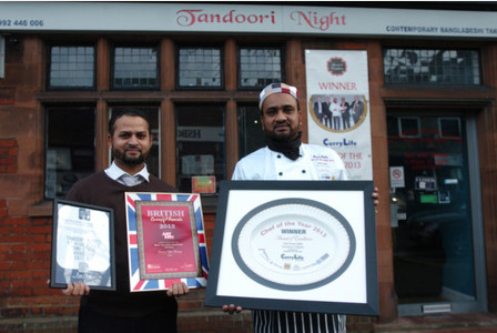 Award Receive tandoori nights at en11