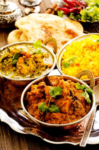 Indian food at Sheikh Balti House LL11