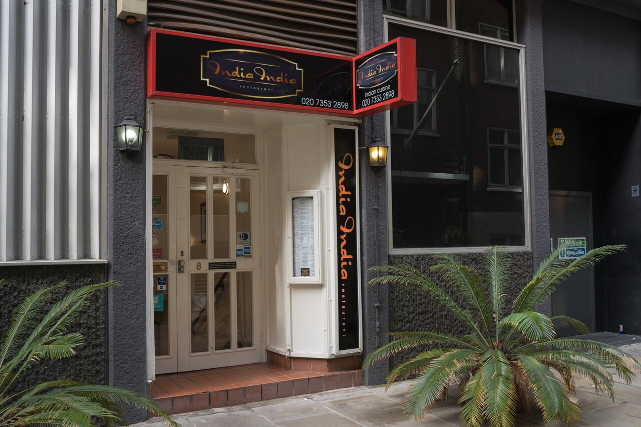 exterior view at india india restaurant ec4a