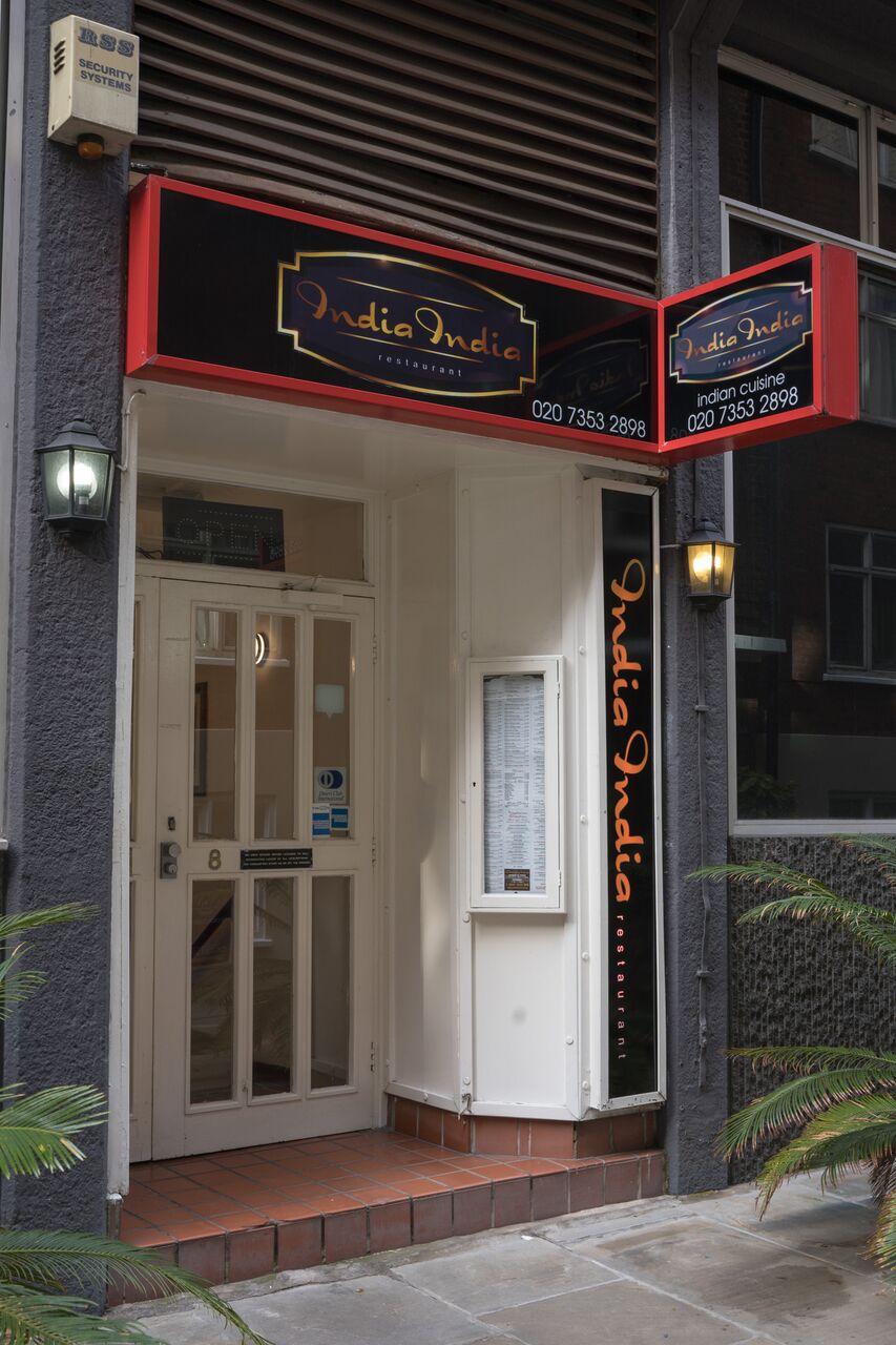 exterior view at india india restaurant ec4a
