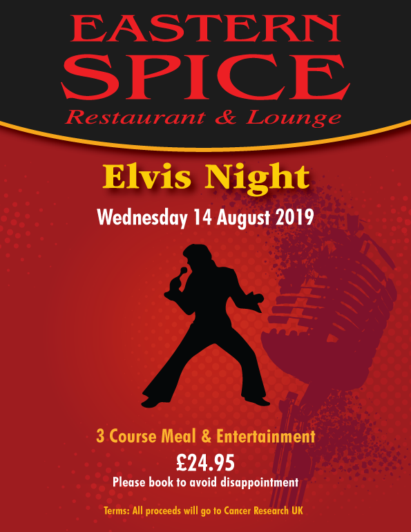 Elvis night at Eastern Spice
