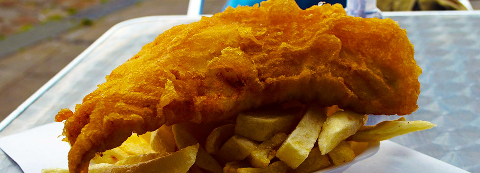 <h2 class='animated fadeInUp'>Providing Best Fish & Chips</h2><p class='animated fadeInDown'>At 186 City Road, Cardiff CF24 3JF</p>