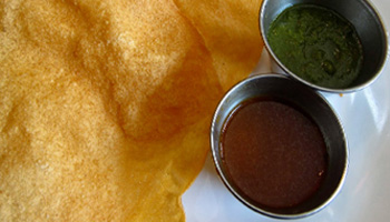 Free Papadum and Chutney Shad Indian Restaurant SE1
