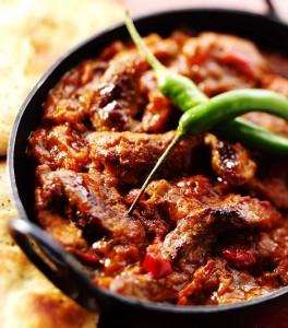 Takeaway shad lamb chilli Shad Indian Restaurant SE1