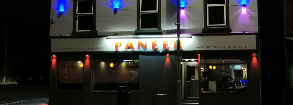 <h2 class='animated fadeInUp'>Welcome to Paneer Restaurant and Takeaway</h2><p class='animated fadeInDown'>Indian Restaurant and Takeaway</p>