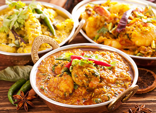 indian food at cinnamon restaurant ls19