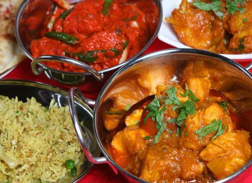 Indian curry at Jamuna E18