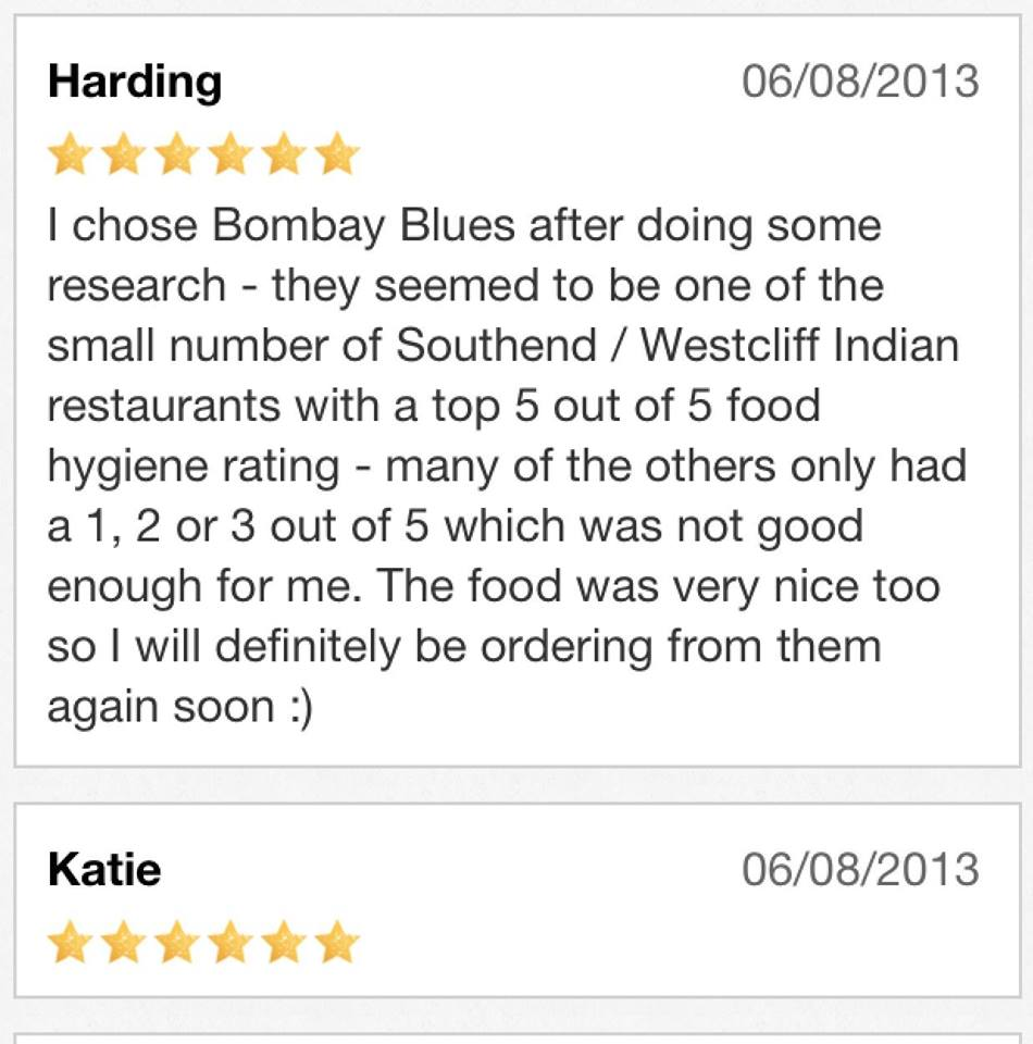 Comments at Bombay blues SS0