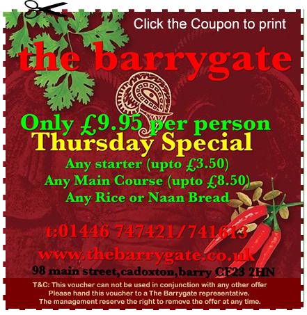 Takeaway Special Offer The Barrygate At CF63