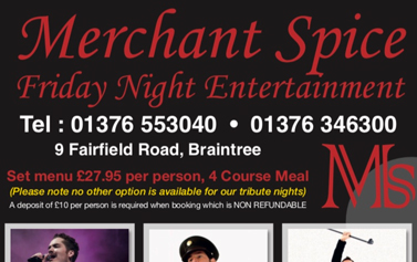 friday live entertainment Merchant Spice cm7