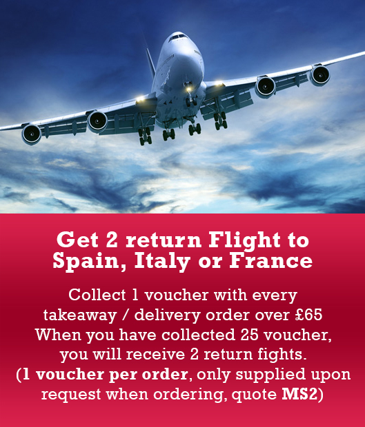 Get 2 return Flight to Spain, Italy or France