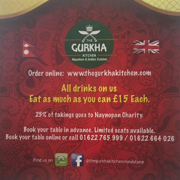 1st Anniversary at Gurkha Kitchen ME16