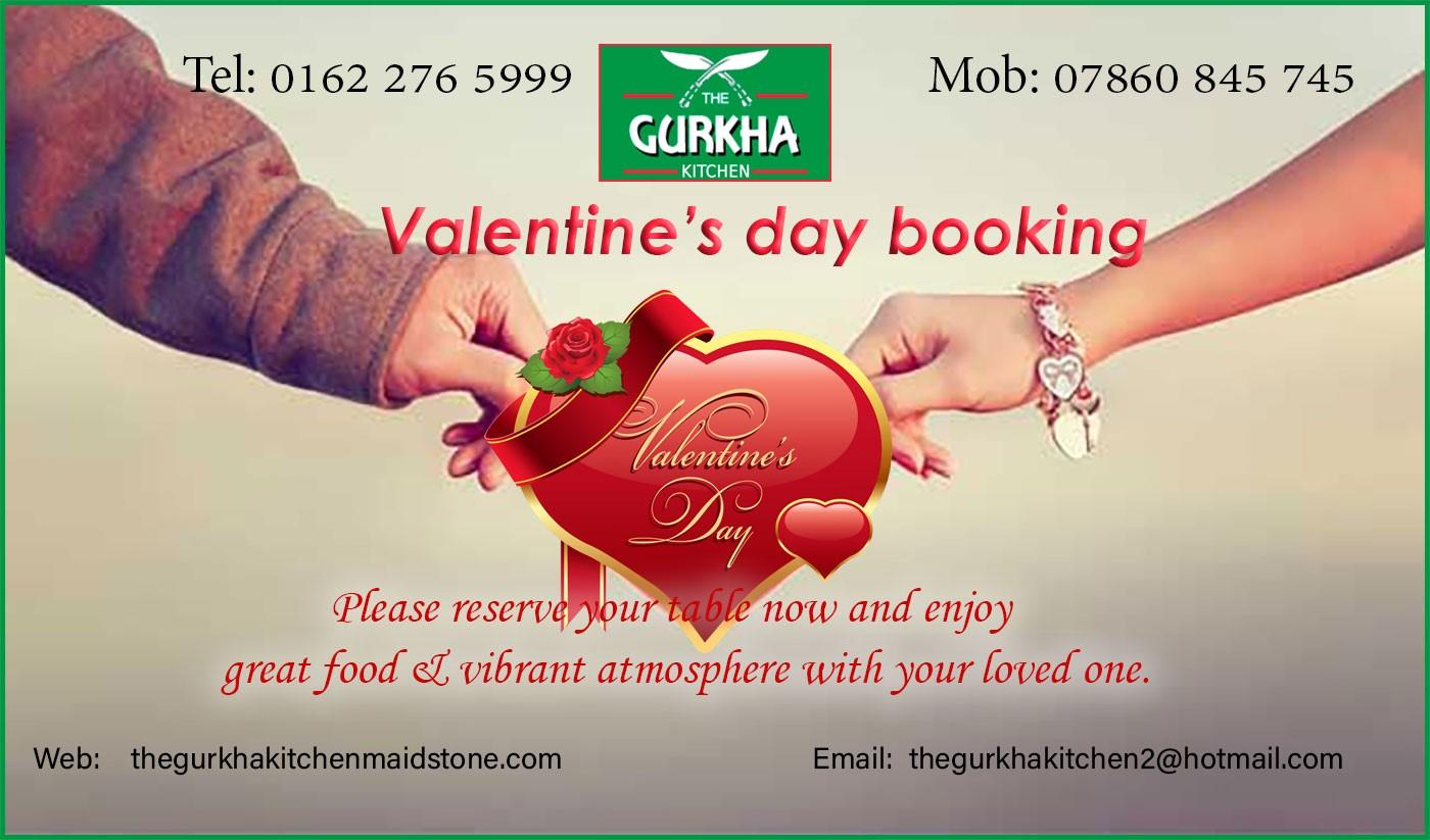 Valentine booking