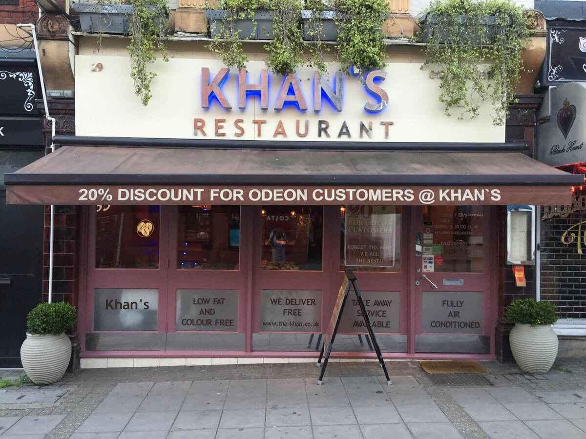 1. Restaurant & Khan Restaurant KT17