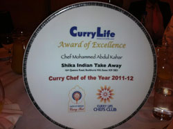 about Shikha Indian Takeaway award