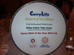about Shikha Indian Takeaway award