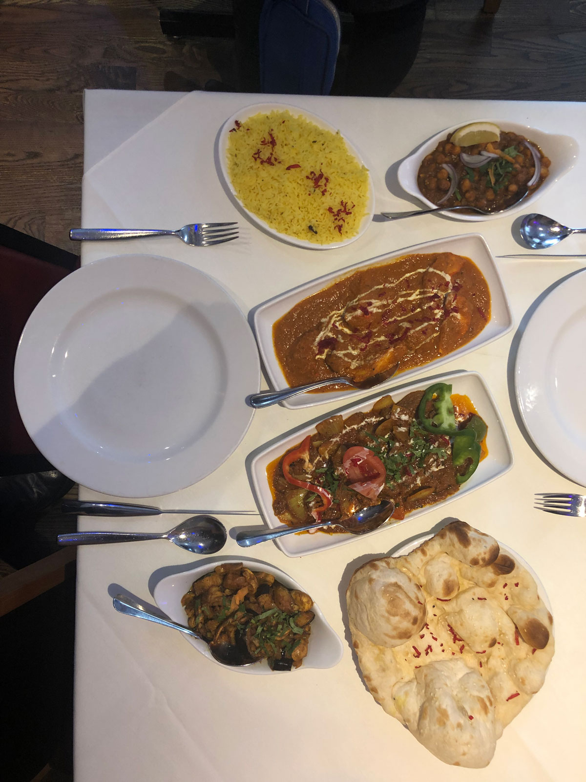 Indian food at rajdoot w1u