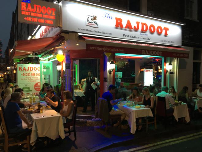 Restaurant and Takeaway The Rajdoot W1U