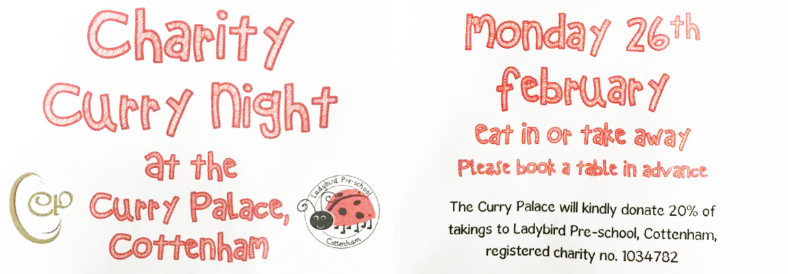 Charity Curry Night at Curry Palace Cottenham CB24