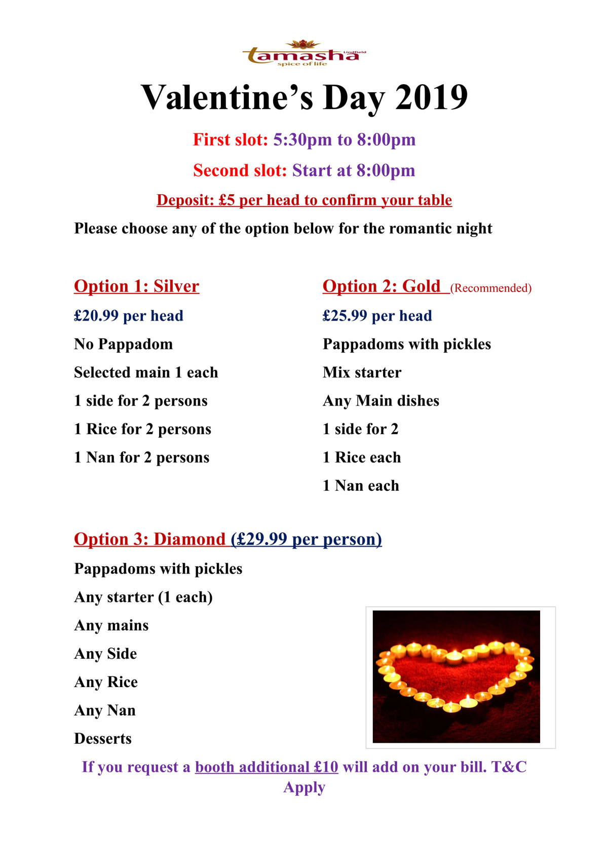 offer at Tamasha Lindfield
