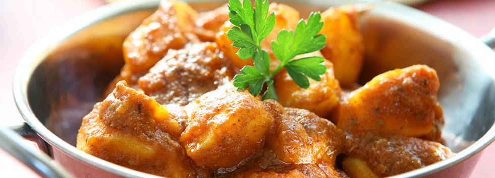 Aloo curry at Chutneys Indian Restaurant NE16
