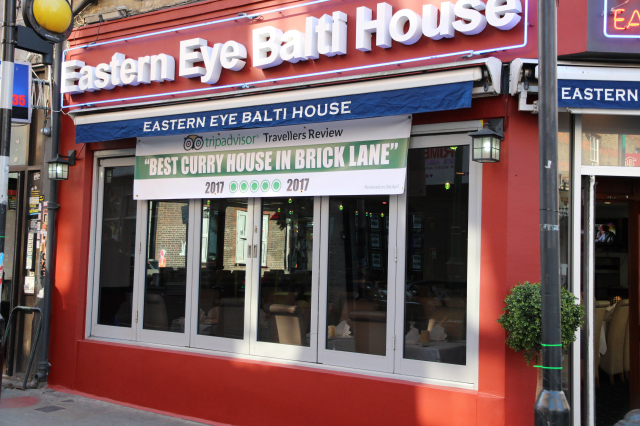 Takeaway front view eastern eye balti house E1