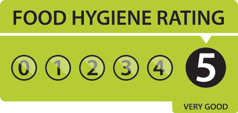 Food hygiene rating 5 arong tandoori l22