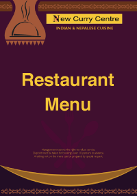 Menu the new curry centre rh12