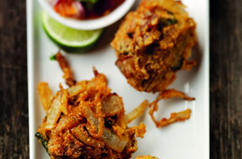 Takeaway Free Onion Bhaji spice balti B17