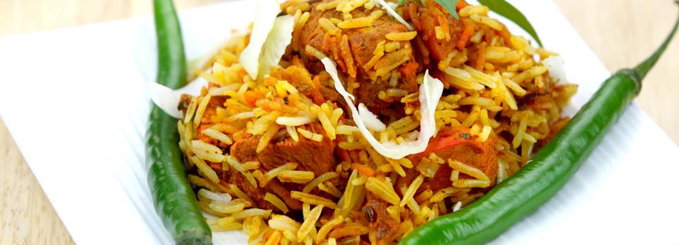 Takeaway chicken rice india garden al3