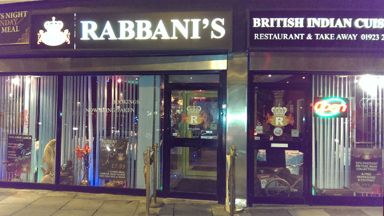 Restaurant rabbanis-indian-restaurant-wd17