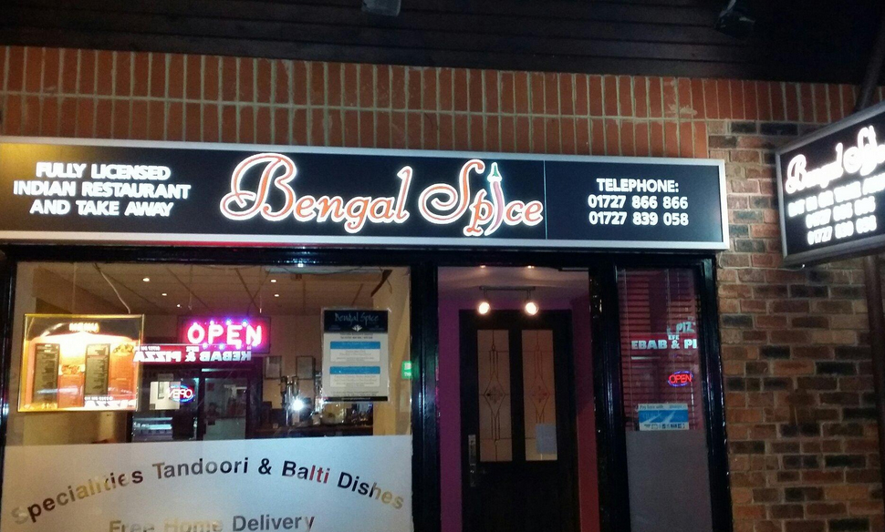 Takeaway front view bengal spice al4